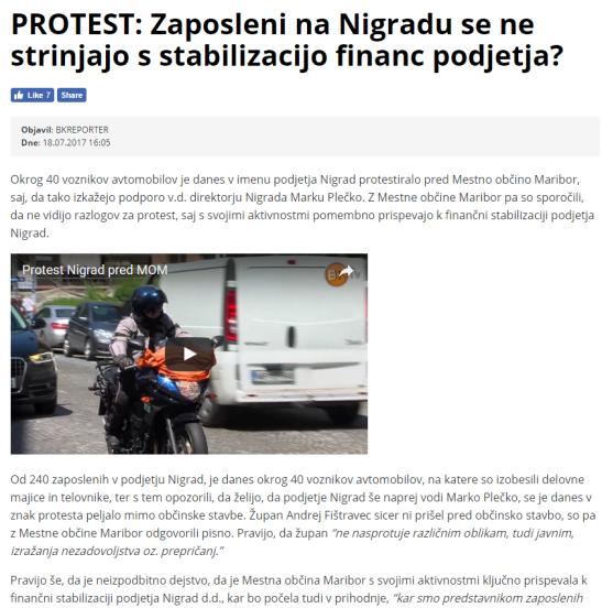 Lokalec Nigrad protest