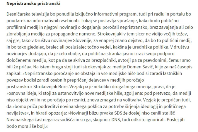 DNS Svet24 pristranskost vezjak nova
