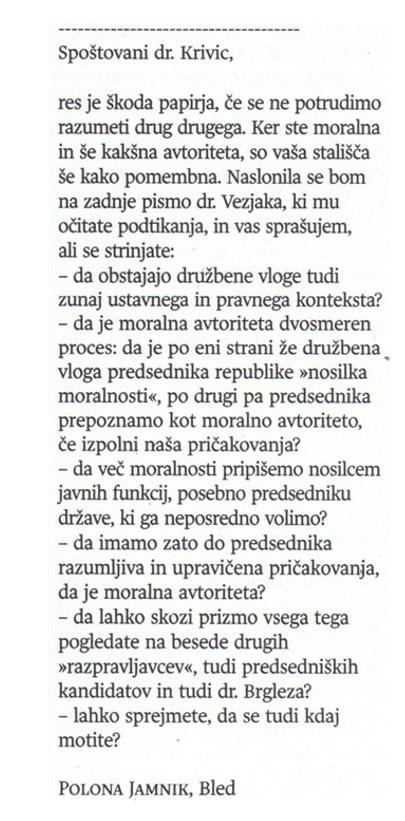 Polona Jamnik replika Krivic