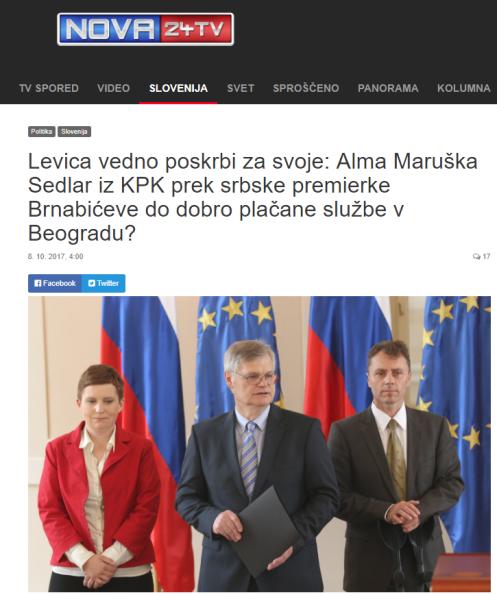 Alma Sedlar Nova25 srbka premierka