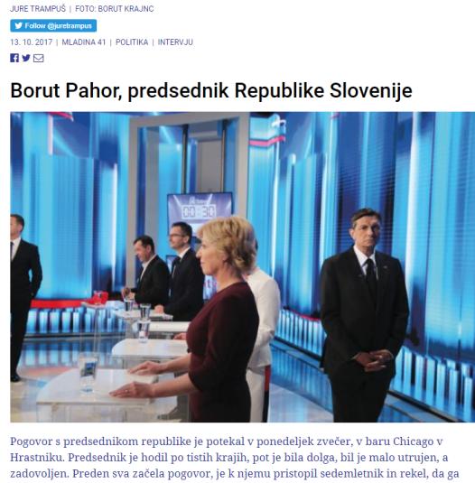 Pahor intervju Mladina