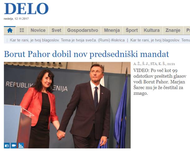 Pahor mandat Delo