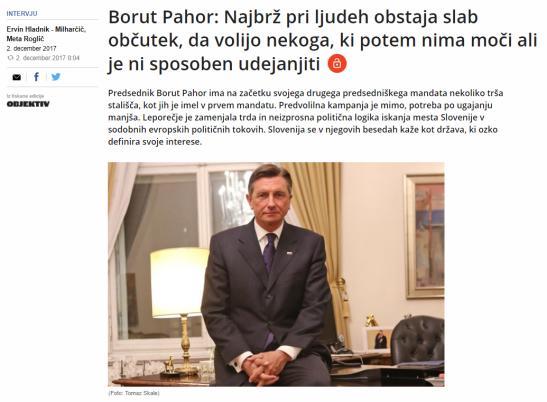 Pahor intevju Dnevnik