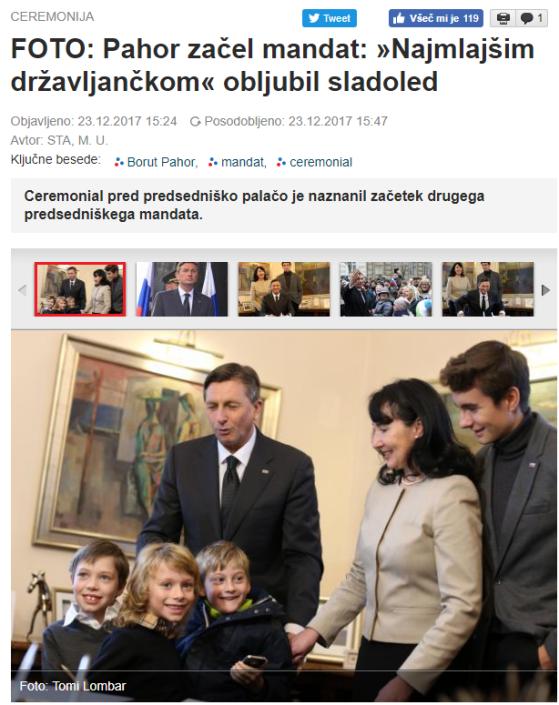 Pahor sladoded mandat otroci