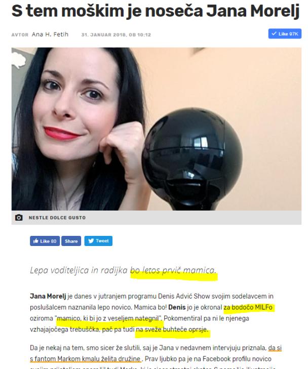 Žurnal Morelj noseča milfa