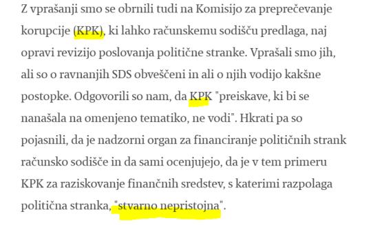 KPK stvarno nepristojna Janša