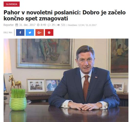 Pahor dobro zmagovati Reporter