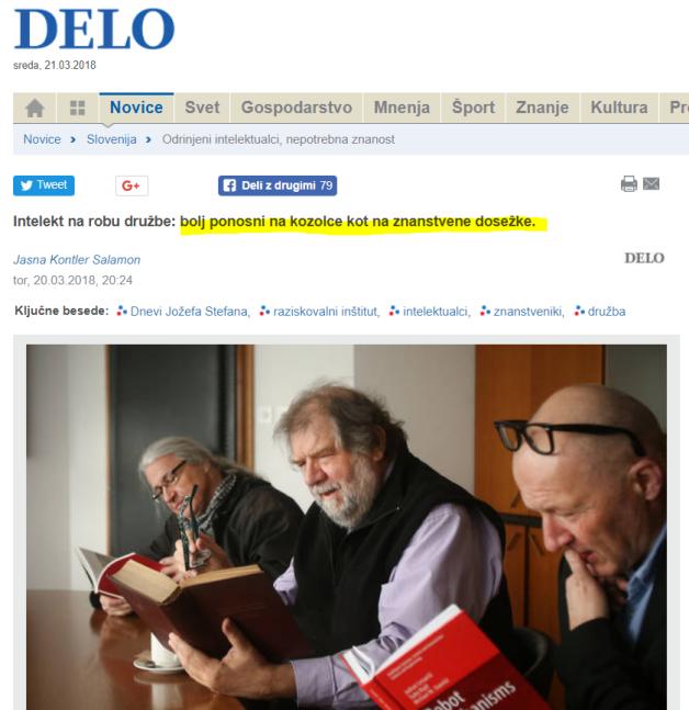 Intelektualci Delo okrogla miza
