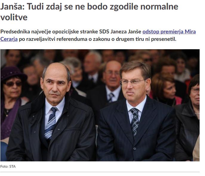 Janša odstop Cerar SIOL