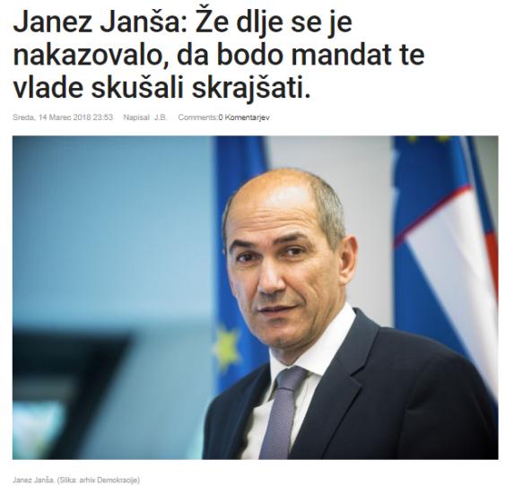 JJ Demokracija odstop Cerar