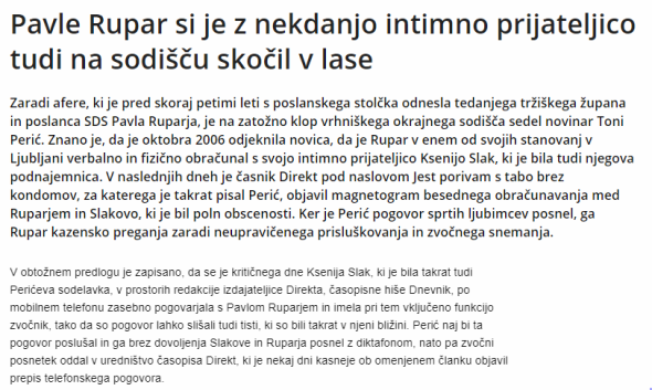 Rupar Dnevnik intimna