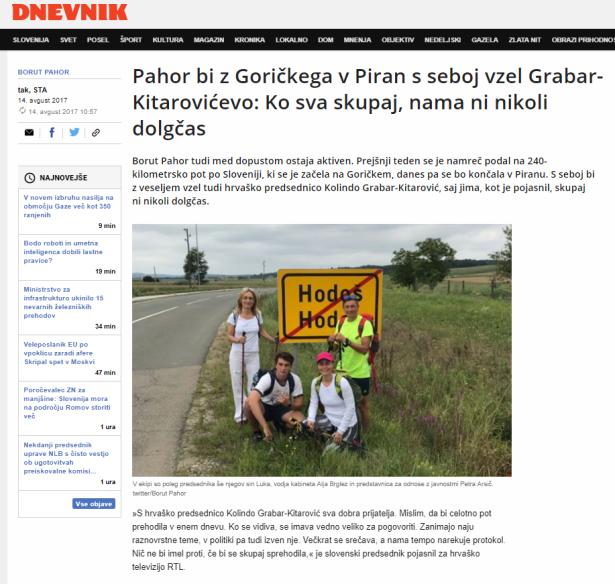 Pahor Kolinda skupaj Dnevnik