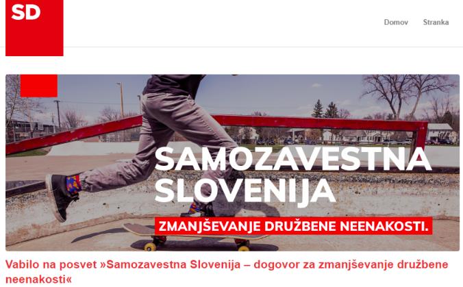 Samozavestna Slovenija spletna stran