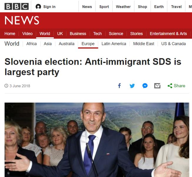 BBC zmaga Janša