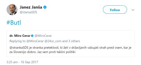Janša butl Cerar