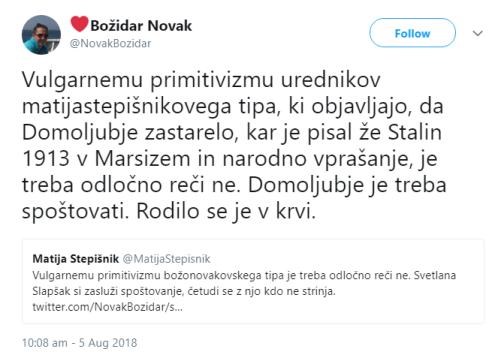 Božidar Novak o Stepišnik