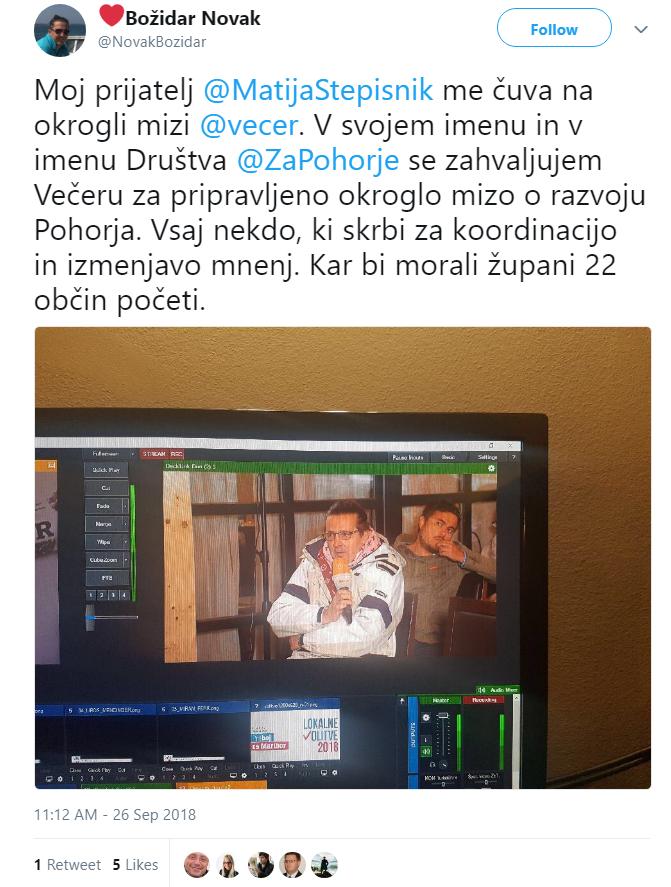Novak Božidar Stepišnik prijatelj