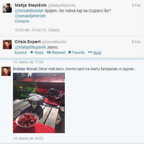 Novak Stepišnik jagode šampanjec