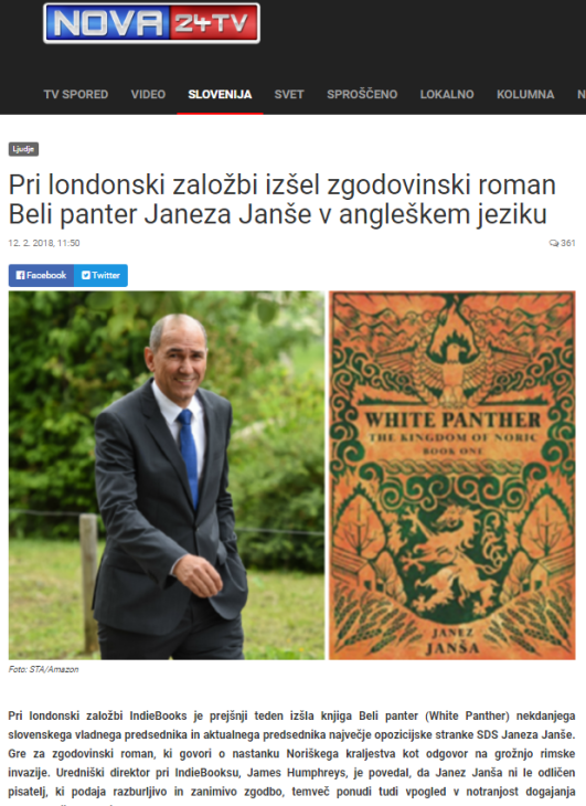 Beli panter angleščina Nova