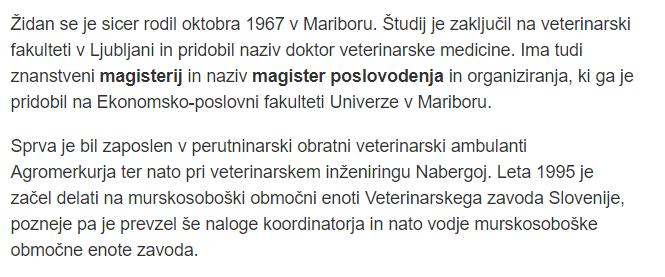 Židan STA magister citat