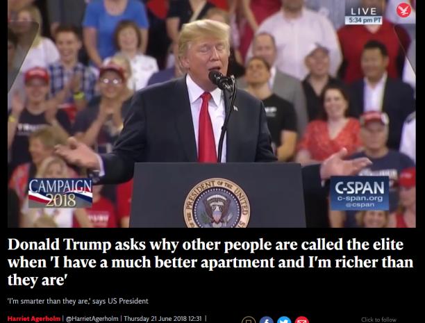 Trump elita