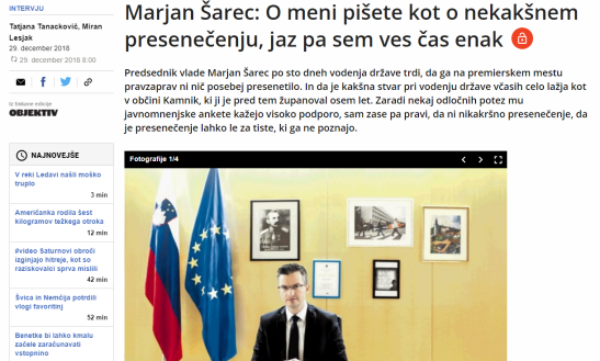 Šarec Dnevnik intervju klovn