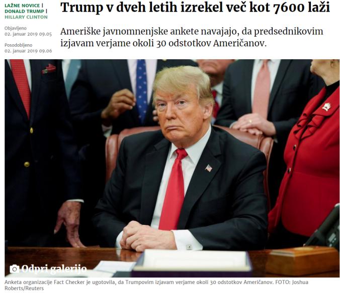 Trump laži 7600 delo