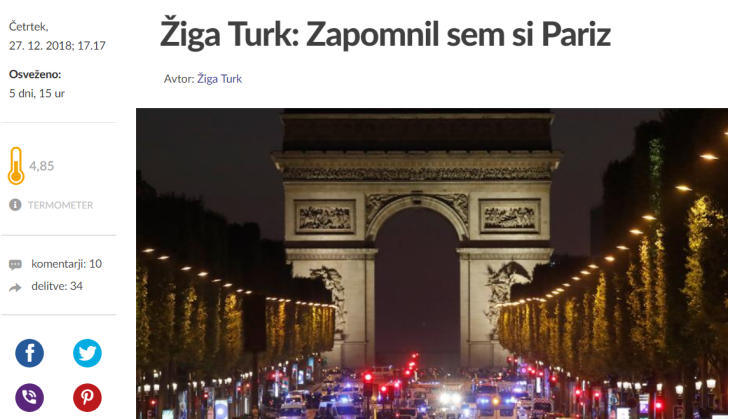 Turk zapomnil sem si pariz
