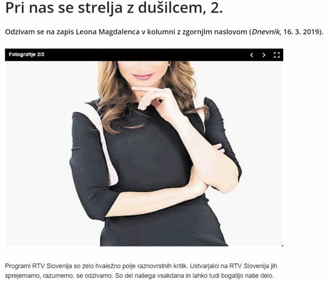 Kadunc Tarča Dnevnik
