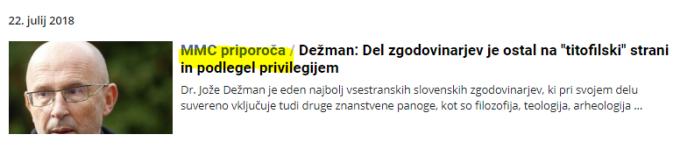 MMC priporoča Dežman Možina