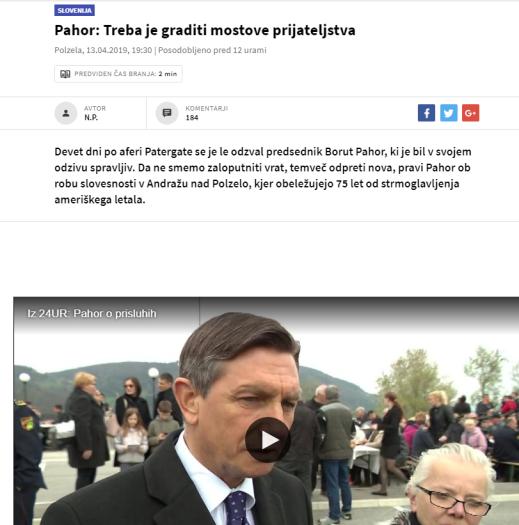 Pahor mostovi prijateljstvi prisluhi 24ur