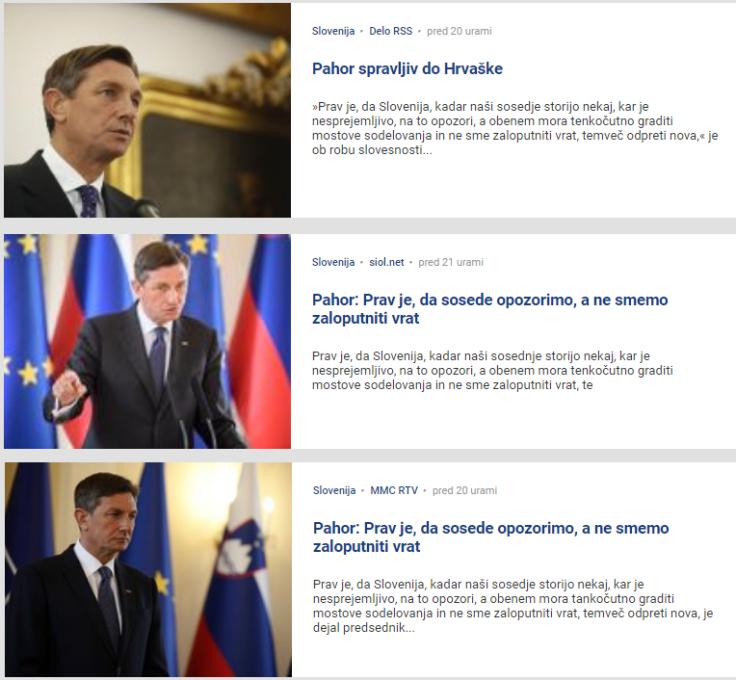 Pahor odziv prisluhi