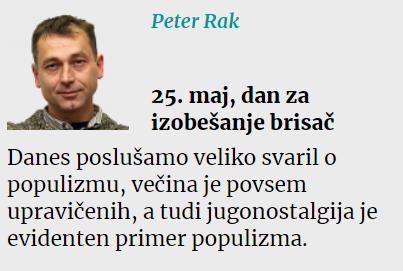 Rak populizem 25. maj
