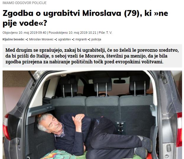 ugrabitev slovenske novice