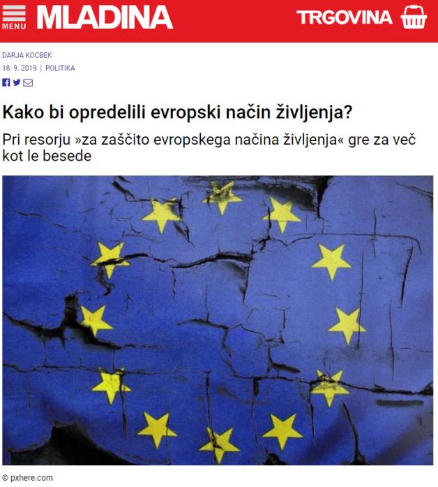 kocbek evropski način življenja mladina