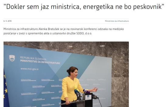 ministrica sodo Bratušek spletna stran ministrstva