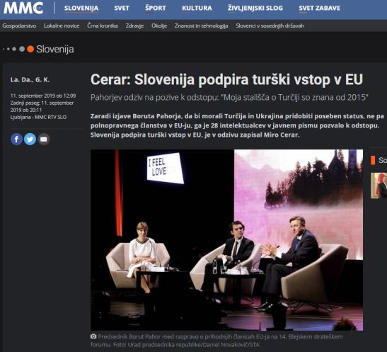 slovenija podpira vstop Cerar vs Pahor