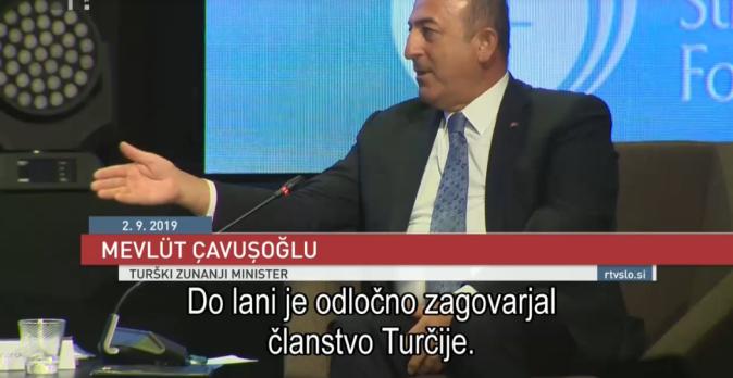 turški minister izjava pismo do lani je zagovarjal pahor
