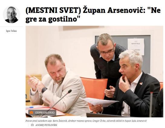Arsenović gostilna Večer