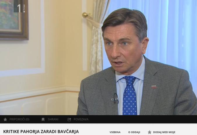 Pahor Kovač TV pojasnilo Bavčar izsek