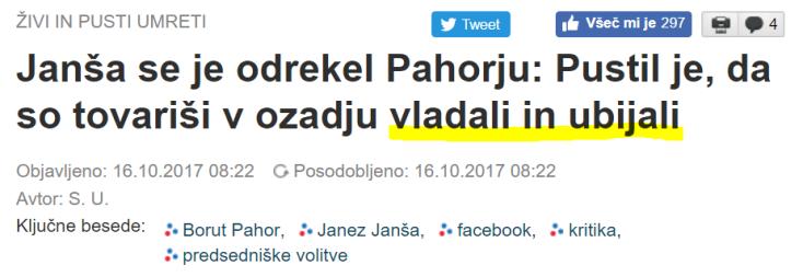 Janša Pahor ubijali
