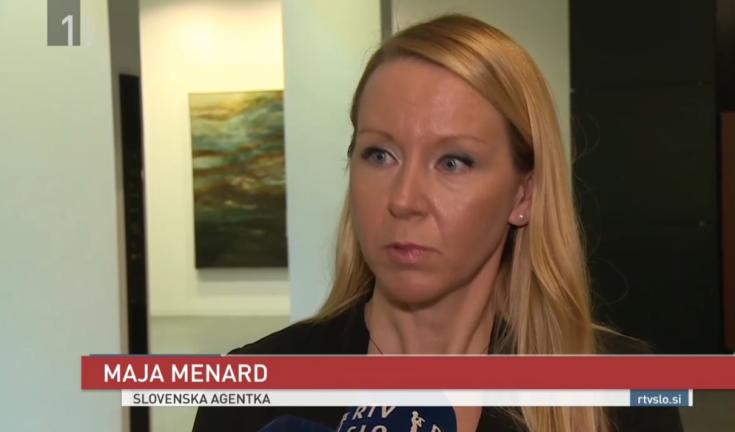 Maja Menard sodišče rtv